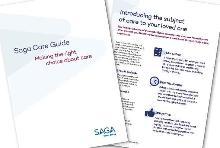 Care guide brochure pages