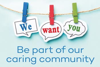 Be part of our caring community image