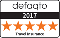 2017 Defaqto Travel Insurance Logo