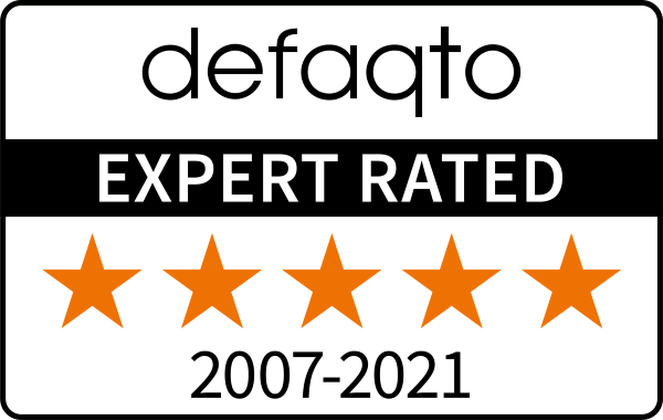 Defaqto Expert Rated 5 Star 2007 to 2021