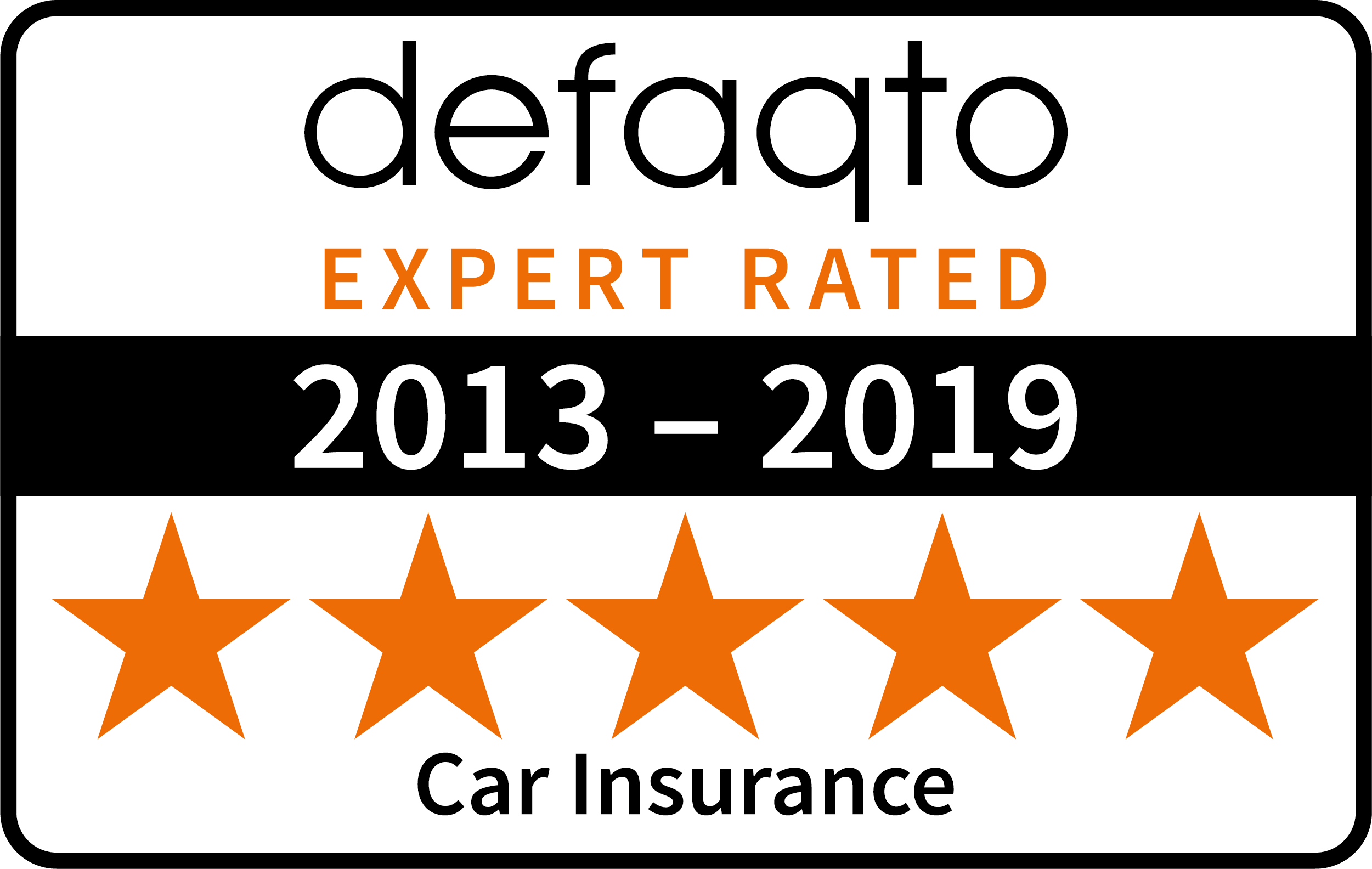 Saga car multi year Defaqto logo 2019