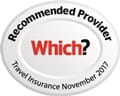 Which? Recommended Provider of Travel Insurance