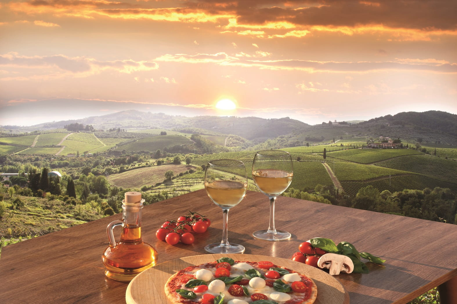 Lunch in the Italian countryside