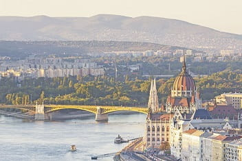 Wide view of Budapest