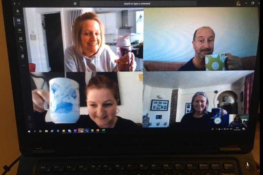Team natter and a cuppa virtual catch up