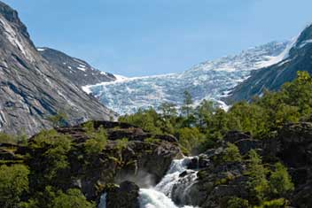 Kleivafossen waterfall in Norway