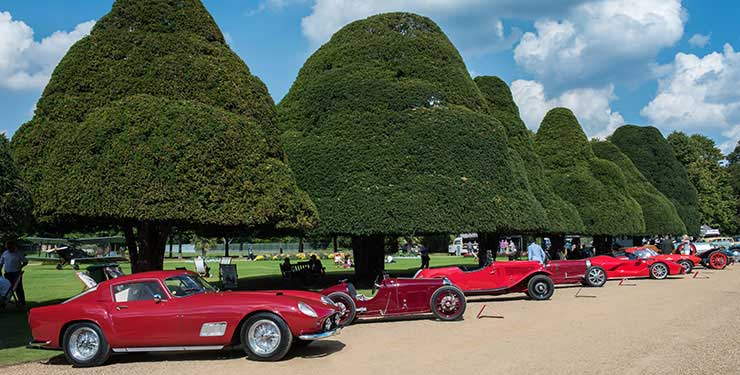 Concours of Elegance red cars