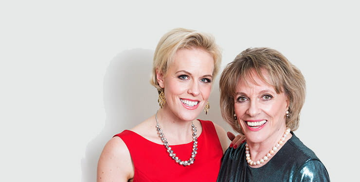 Esther Rantzen and Rebecca Wilcox