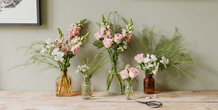 Bloom & Wild: The Harper multi-vase flower bouquets