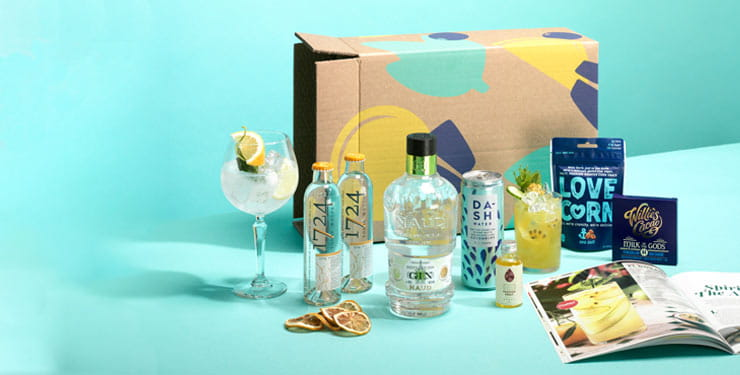 Contents of a Gin of the Month box from Craft Gin Club
