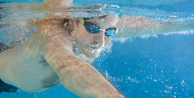 swimmer at Nuffield Health
