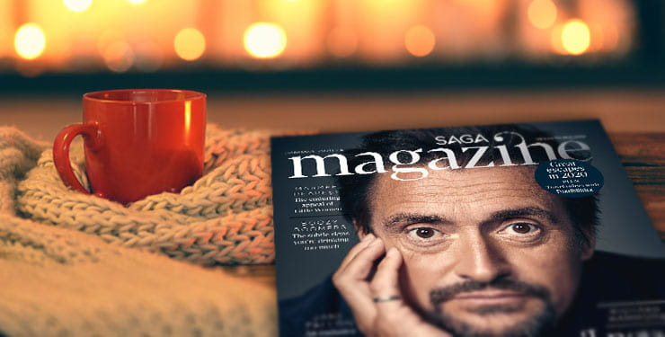 A copy of Saga Magazine with Richard Hammond cover
