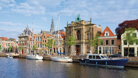 The attractive waterfront of Haarlem