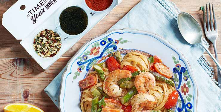 Simply Cook's Cuban prawn pasta