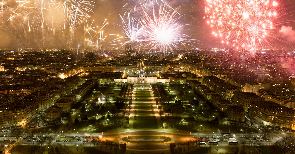 Fireworks at Champ de Mars, Paris