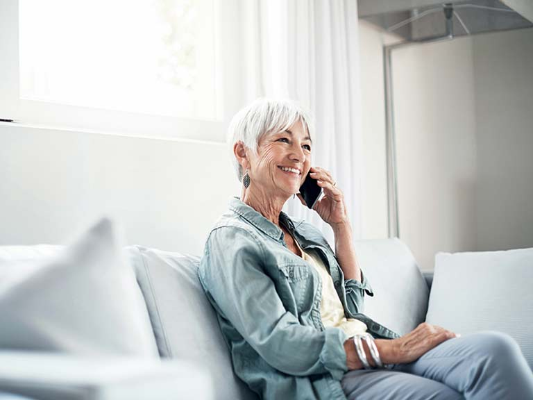 Older woman on telephone