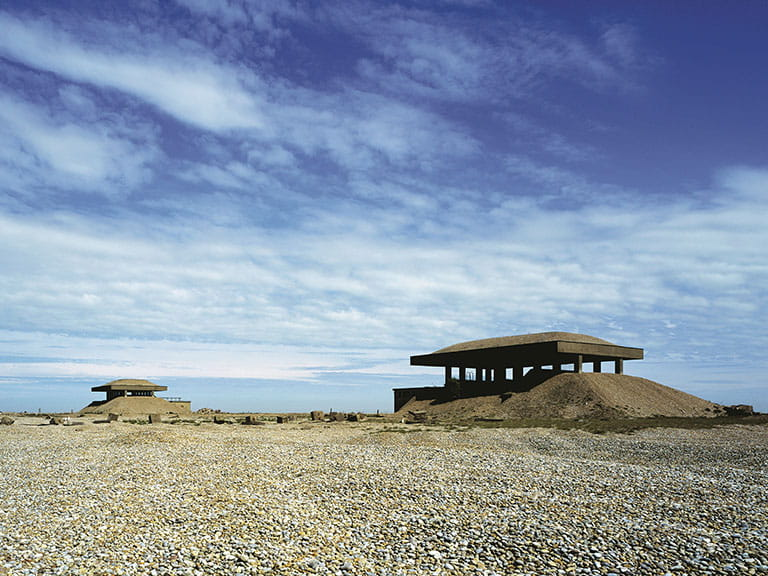 The Pagodas at Orford Ness where bomb detonators were once-tested, Suffolk| Image credit to NTI Joe Cornish