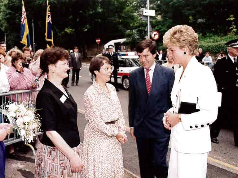 Diana, Princess of Wales with Teresa Cresswell