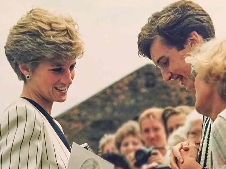 Diana, Princess of Wales with David Butler
