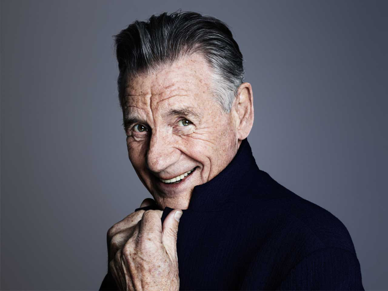 Actor Michael Palin smiles
