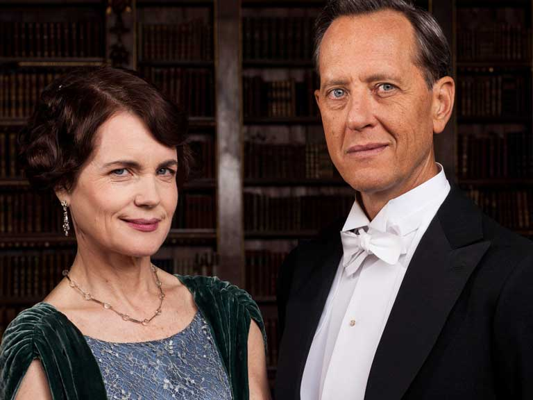 Richard E Grant and Elizabeth McGovern for TV show Downton Abbey