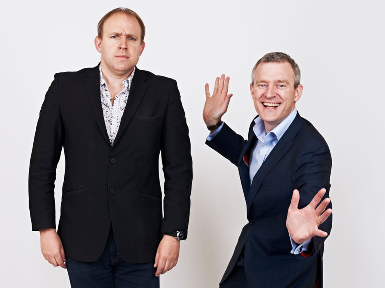 Brothers Tim Vine and Jeremy Vine