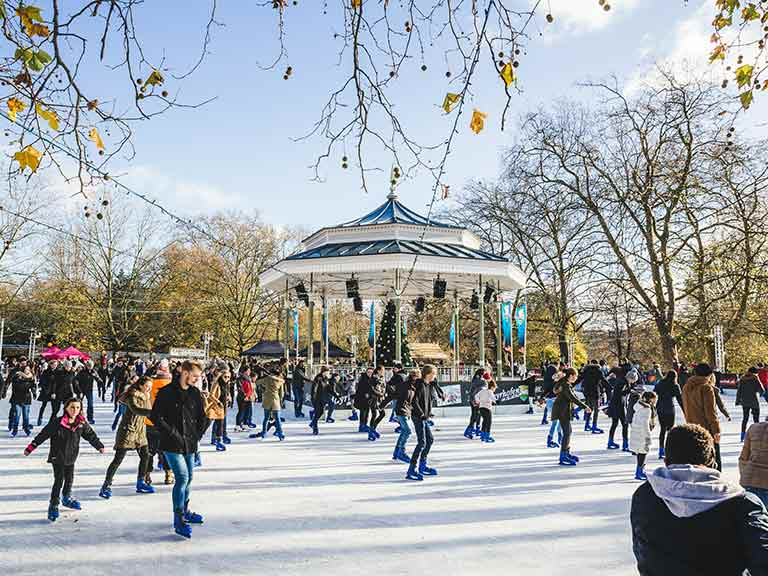 The ice rink at Hyde Park's Winter Wonderland