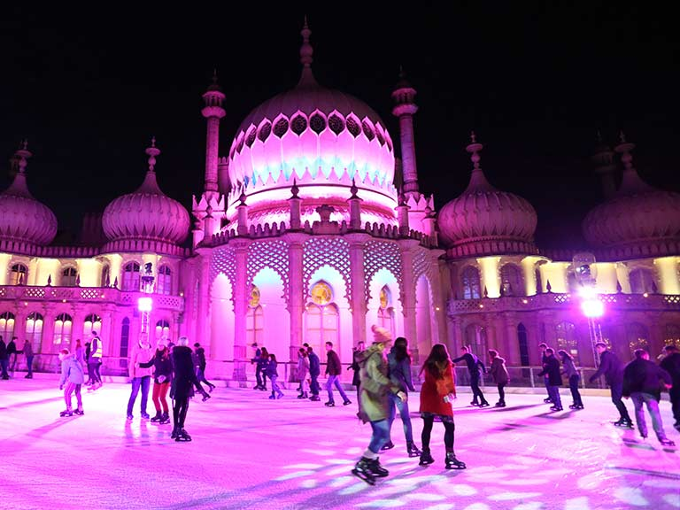 The Royal Pavilion is a magical place to ice skate this year©Visit England/Hugo Philpott