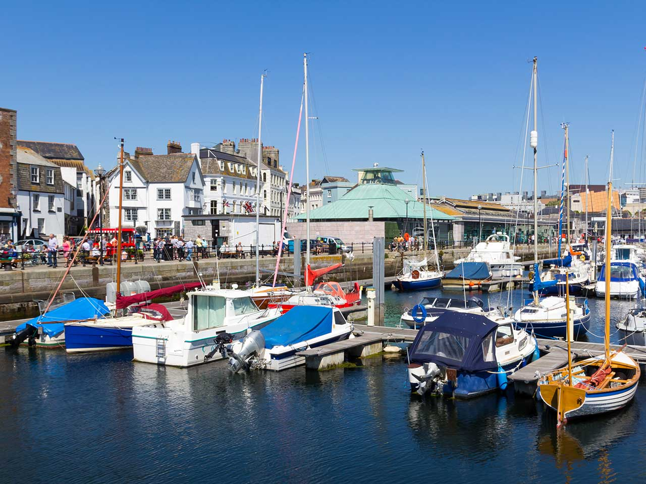 Plymouth's waterfront is a vibrant destination