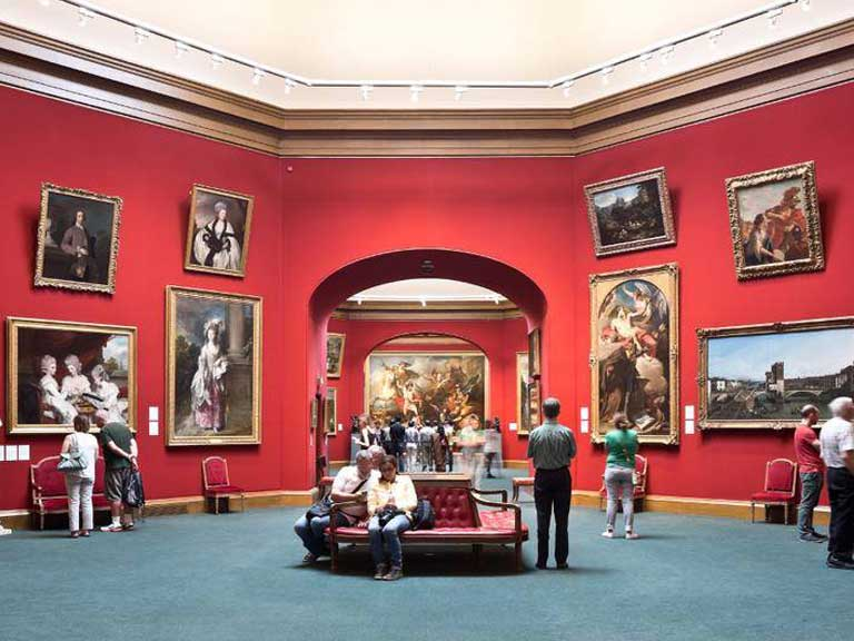 Inside the Scottish National Gallery