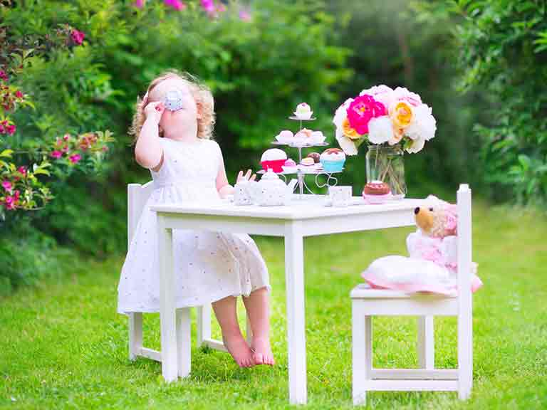Enjoy a tea party with your grandchild