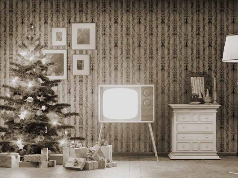 Vintage TV at Christmas