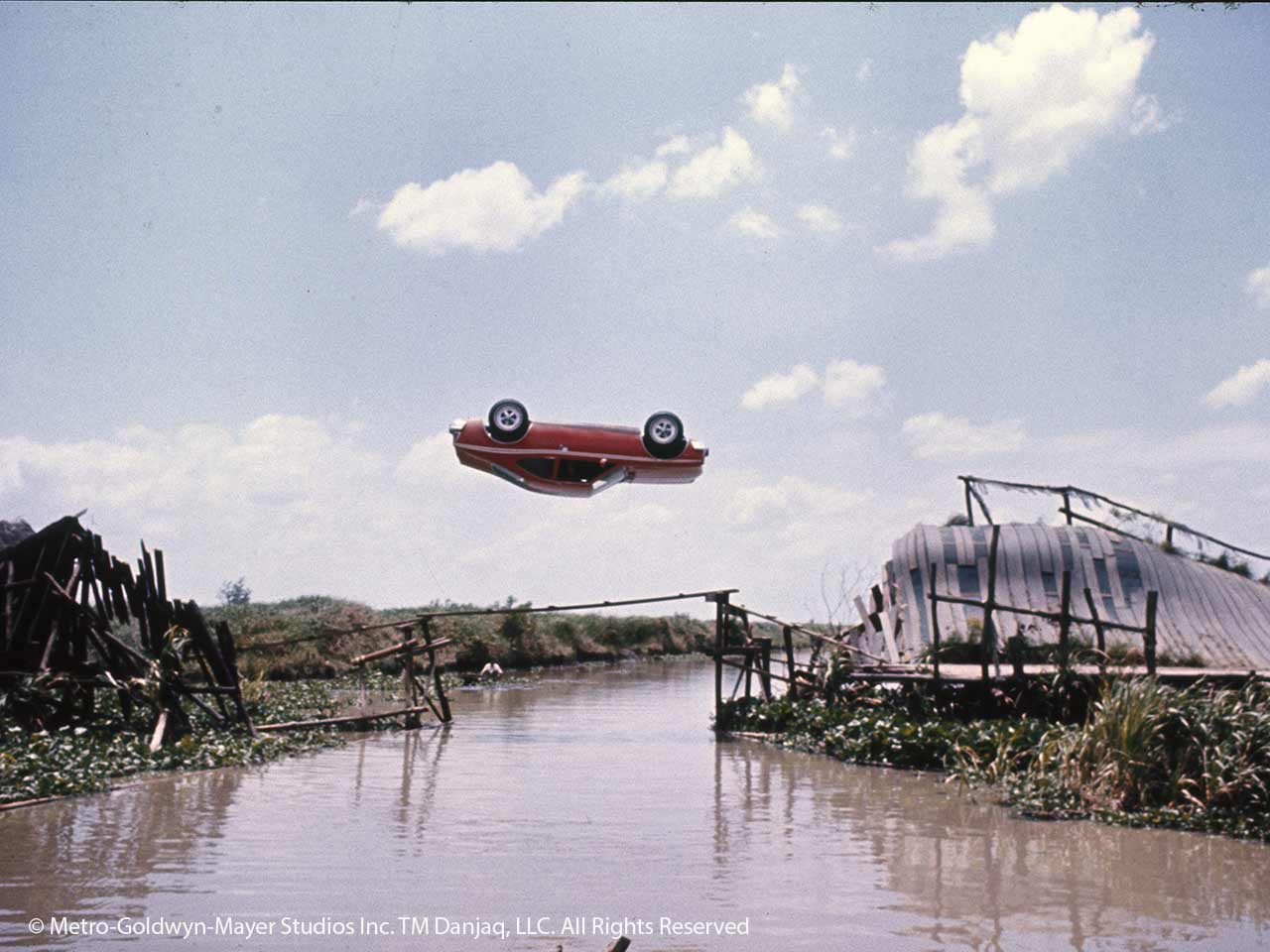Scaramanga's flying car in Bond film The Man with the Golden Gun