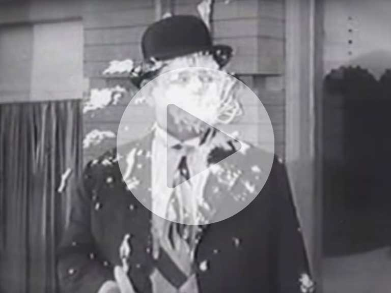 Laurel and Hardy and their legendary custard pie fights