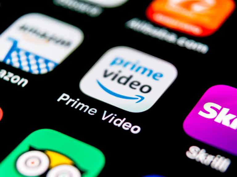 App screen with Amazon Prime Video app
