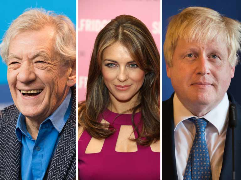 Sir Ian McKellen, Liz Hurley and Boris Johnson all made notable cameos
