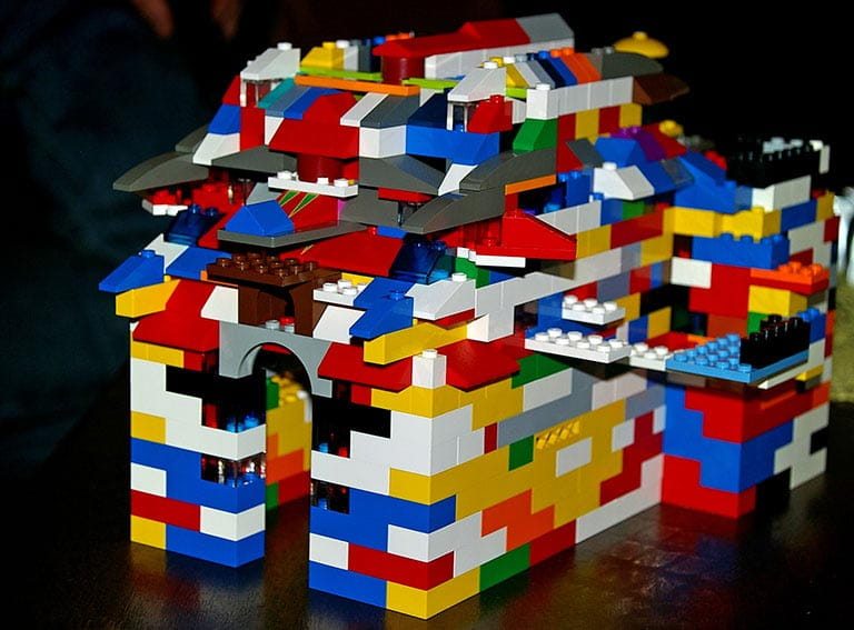 House made from Lego