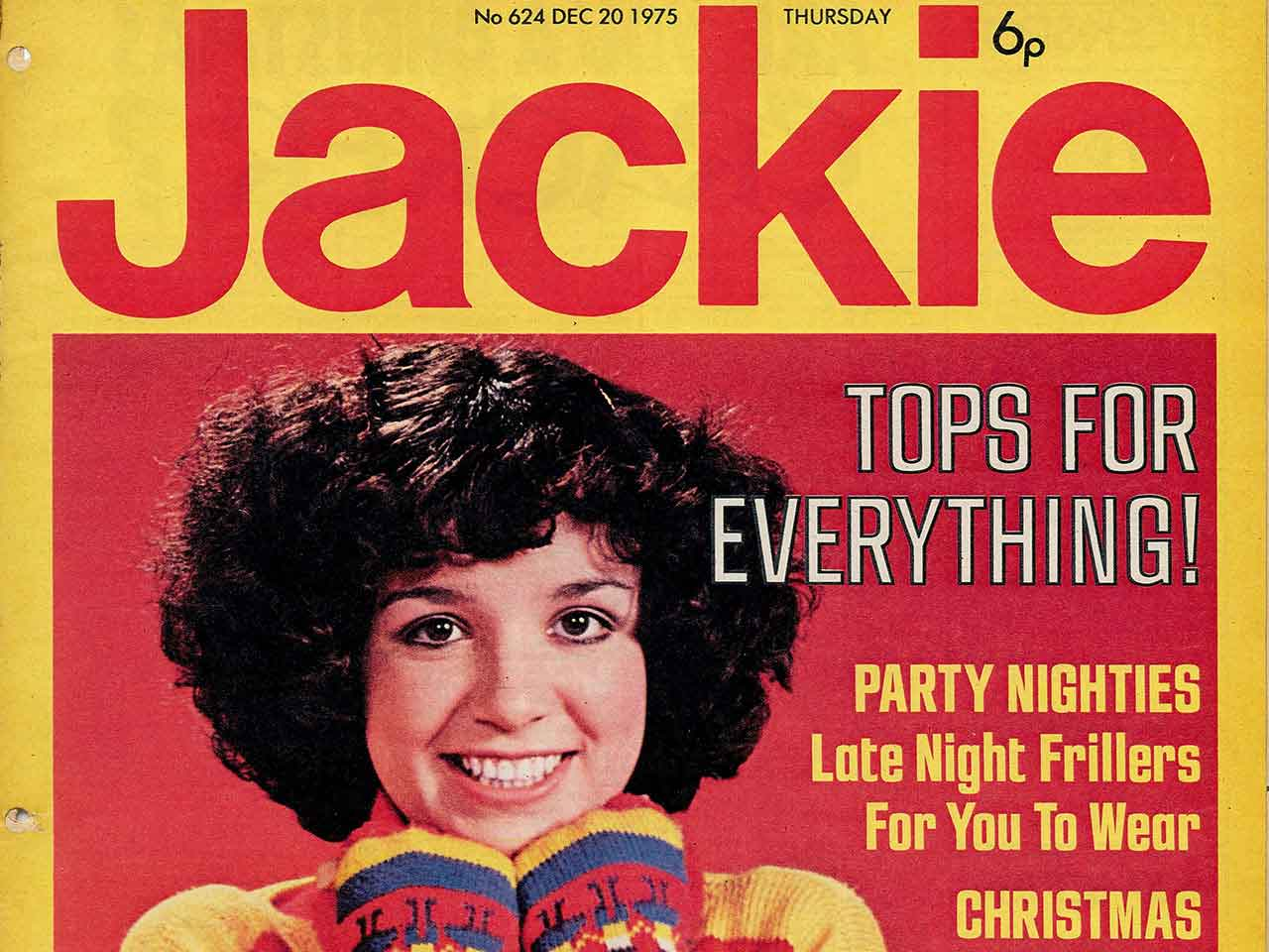 Front cover of Jackie Magazine