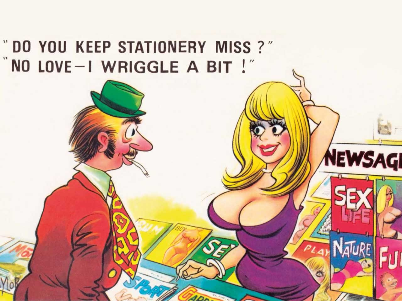 Bamforth & Co's saucy postcards of the 1950's