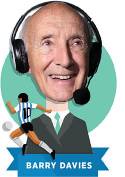 Illustration of Barry Davies