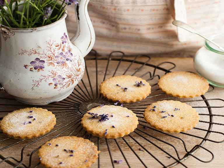 The taste - and scent - of lavendar biscuits