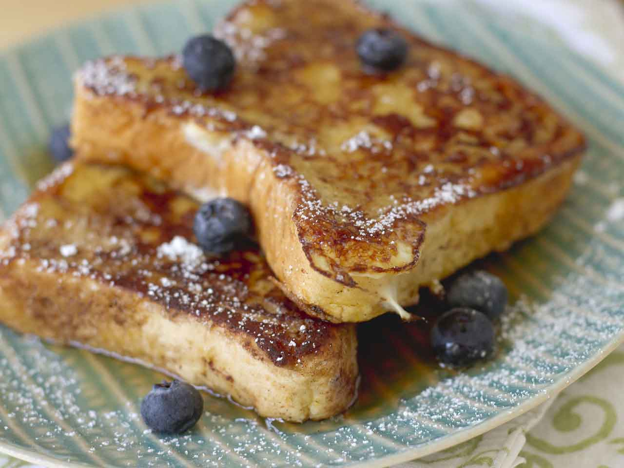 Two slices of French toast