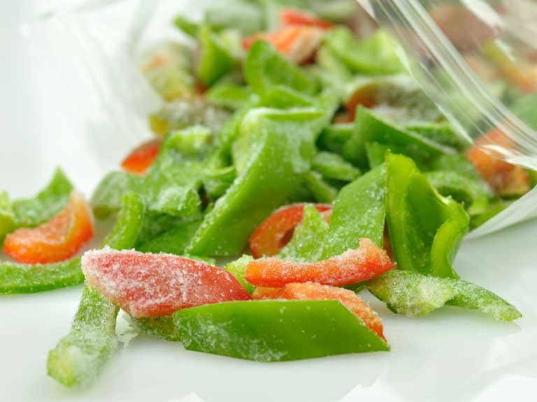 Frozen peppers