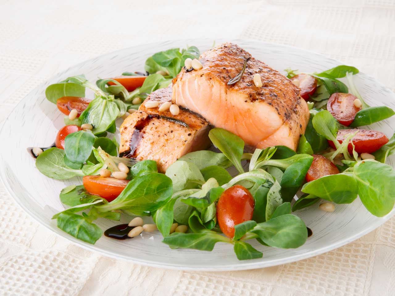 Cooked salmon