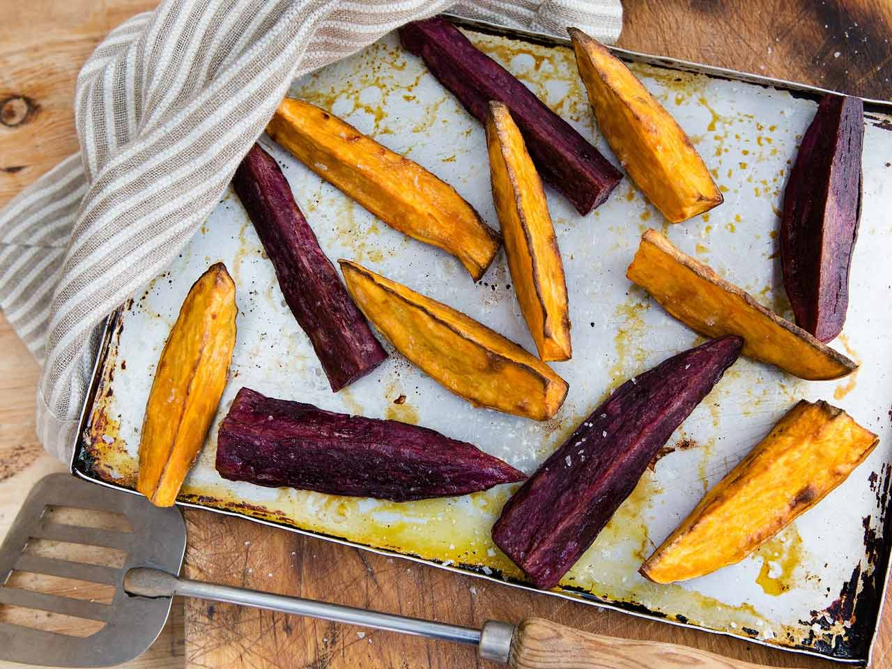 Cooked sweet potatoes