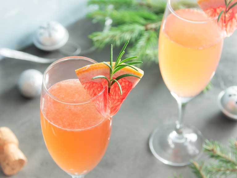 Champagne cocktail mimosa