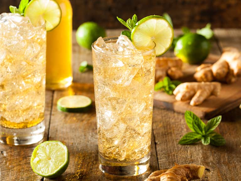 Zing and tonic mocktail