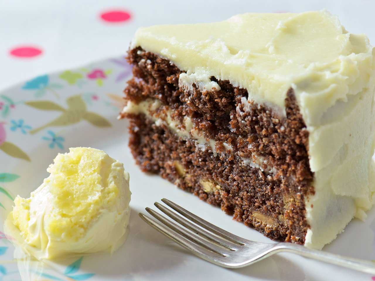 Double chocolate cake with clotted cream