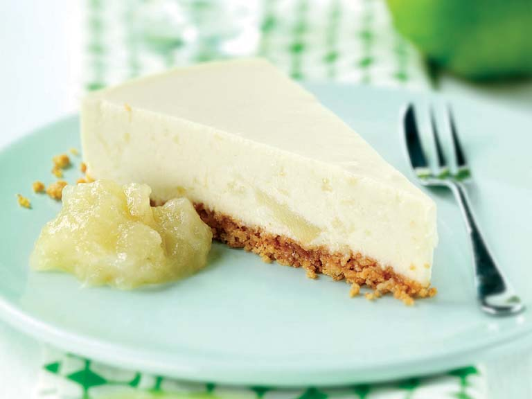 Bramley apple and amaretti cheesecake