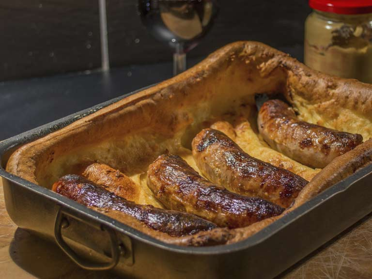 Traditional toad in the hole